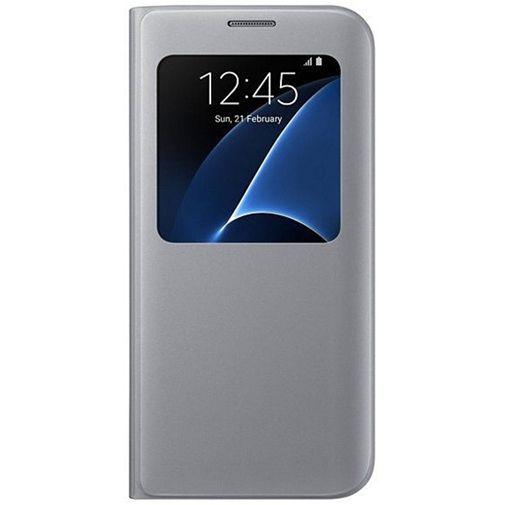 Productafbeelding van de Samsung S View Cover Silver Galaxy S7 Edge