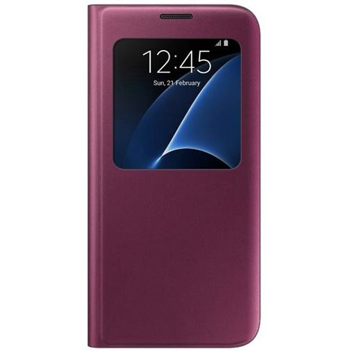 Samsung S View Cover Wine Red Galaxy S7 Edge