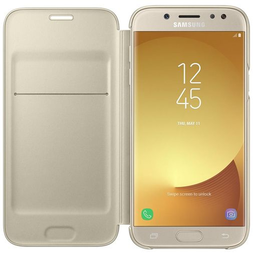 Samsung Wallet Cover Gold Galaxy J5 (2017)
