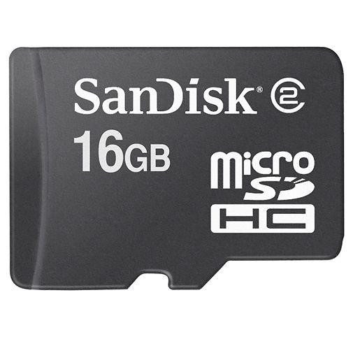 Productafbeelding van de SanDisk microSDHC 16GB