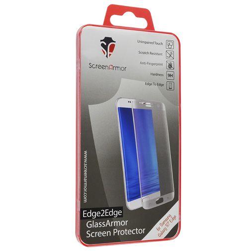 Productafbeelding van de ScreenArmor Glass Armor Edge-To-Edge Screenprotector Samsung Galaxy S7 Edge Silver