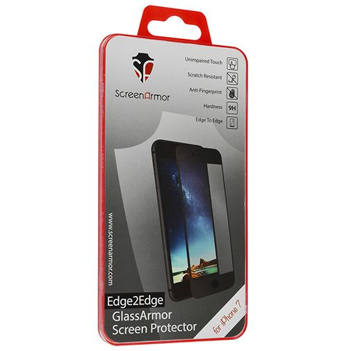 Productafbeelding van de ScreenArmor Glass Armor Edge-to-Edge Screenprotector Apple iPhone 7/8 Black