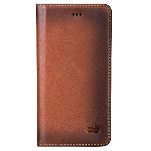 Senza Desire Leather Booklet Burned Cognac Apple iPhone 6/6S