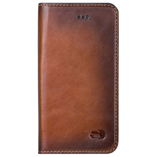 Senza Desire Leather Booklet Burned Cognac Apple iPhone 7/8