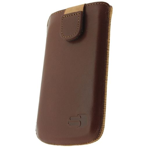 Senza Leather Slide Case Cognac Size S
