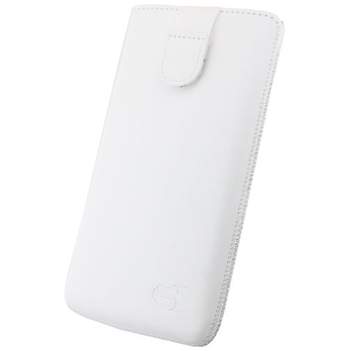 Senza Leather Slide Case White Size S