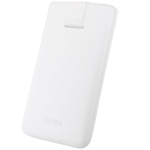 Senza Leather Slide Case White Size S