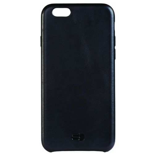 Senza Pure Leather Cover Deep Black Apple iPhone 6/6S