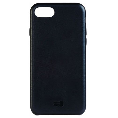 Senza Pure Leather Cover Deep Black Apple iPhone 7/8
