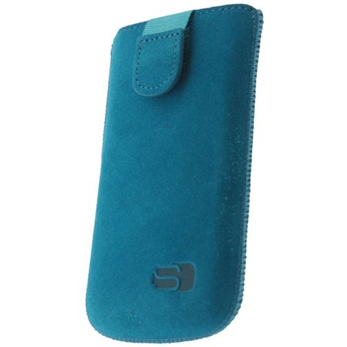 Senza Suede Slide Case Deep Turquoise Size XL