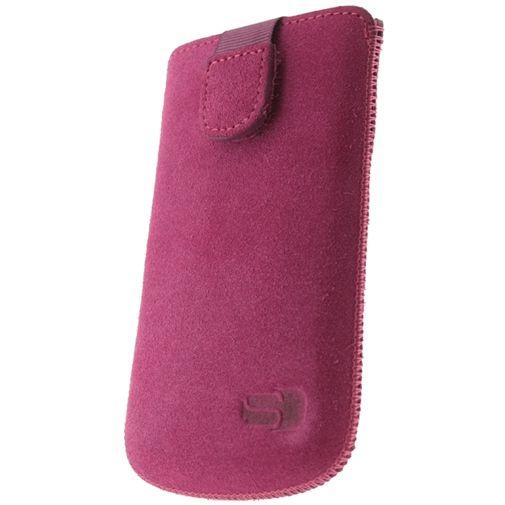 Senza Suede Slide Case Hot Pink Size M-Large