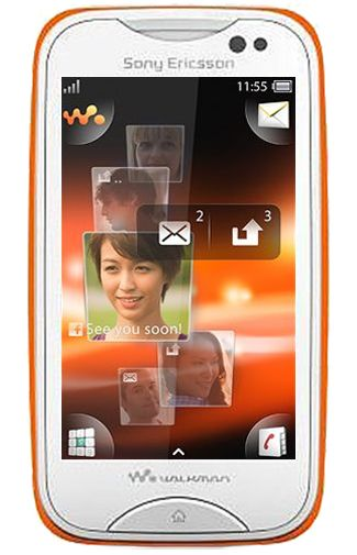 Sony Ericsson Mix Walkman White Orange