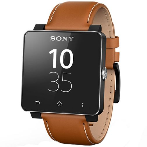 Sony SmartWatch 2 Polsband Leather Brown
