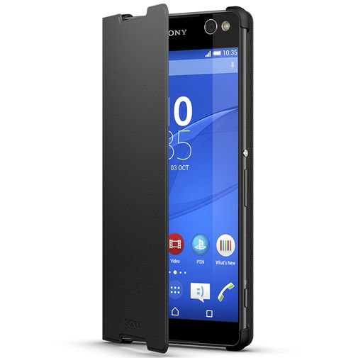 Sony Style Cover Black Xperia C5 Ultra