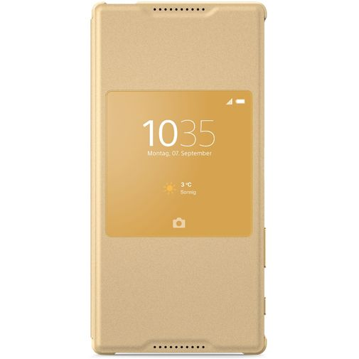 Sony Style Cover Gold Xperia Z5 Premium