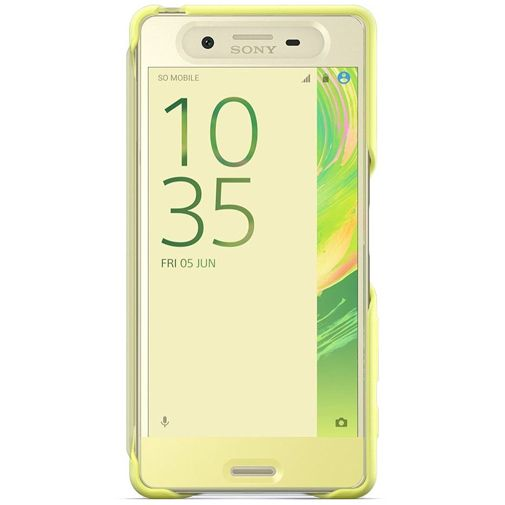Sony Style Cover Touch SCR50 Lime Gold Xperia X