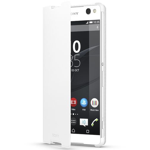 Productafbeelding van de Sony Style Cover White Xperia C5 Ultra
