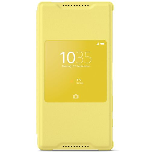 Sony Style Cover Yellow Xperia Z5 Compact