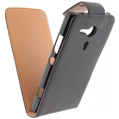 Xccess Leather Flip Case Black Sony Xperia SP