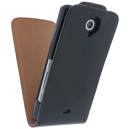 Xccess Leather Flip Case Black Sony Xperia T