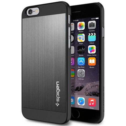 Spigen Aluminium Fit Case Grey Apple iPhone 6/6S