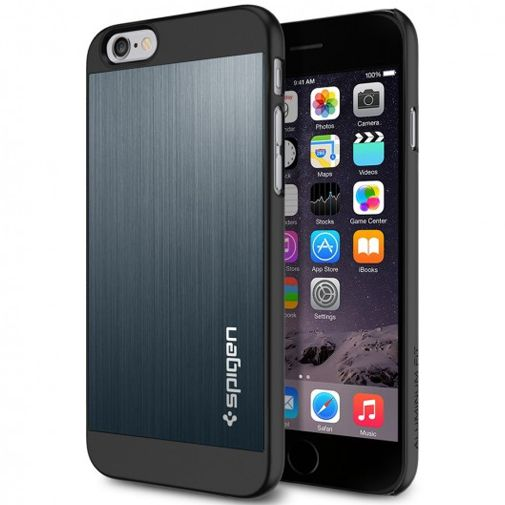 Spigen Aluminium Fit Case Metal Slate Apple iPhone 6/6S