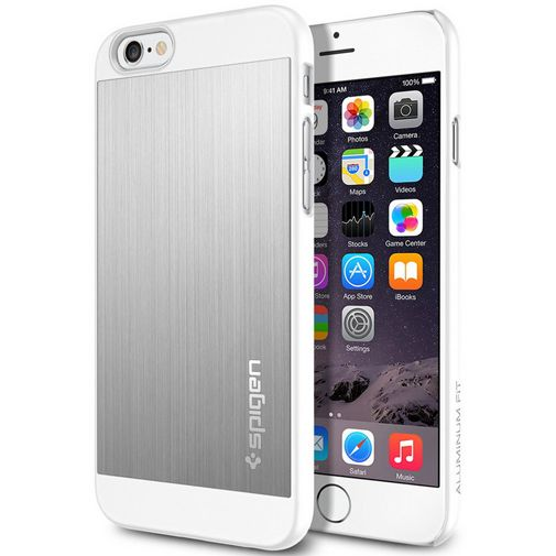 Spigen Aluminium Fit Case Satin Silver Apple iPhone 6/6S