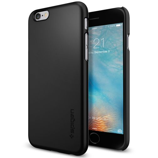 Productafbeelding van de Spigen Thin Fit Case Black Apple iPhone 6/6S
