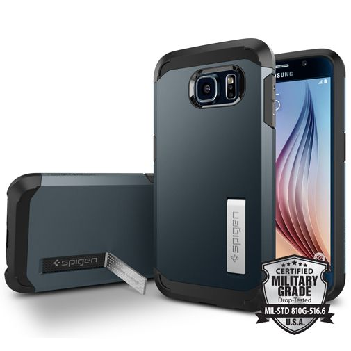 Spigen Tough Armor Case Metal Slate Samsung Galaxy S6