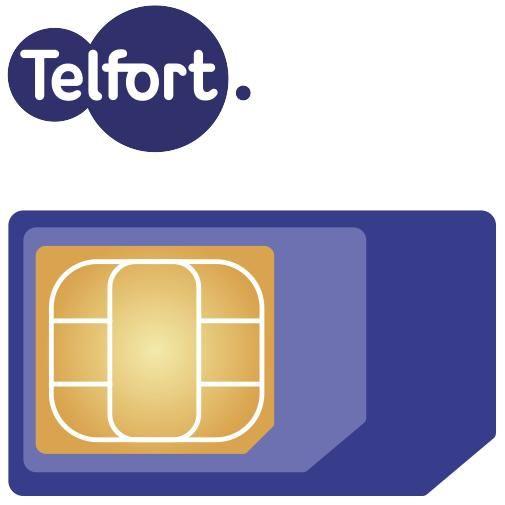 Productafbeelding van de Telfort vervangende 3-in-1 simkaart