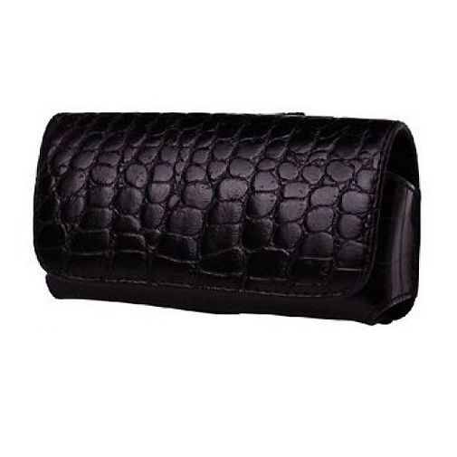 Valenta Case Geneve Large Loop Black Croco