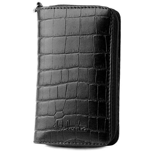 Valenta Case Zipp Black Croco Small
