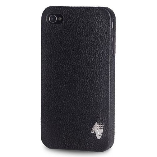 Valenta iPhone 4 Snapon Cover Leather Black