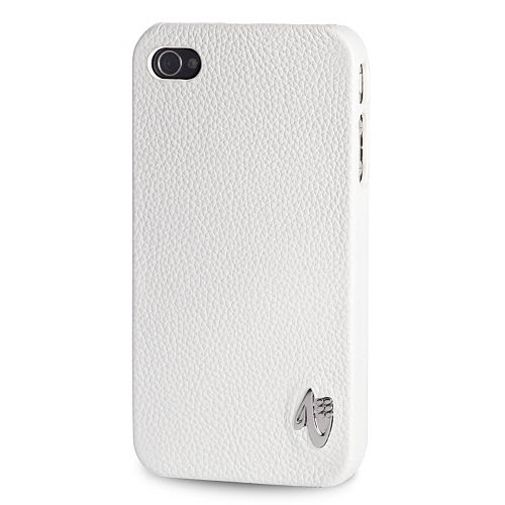 Valenta iPhone 4 Snapon Cover Leather White