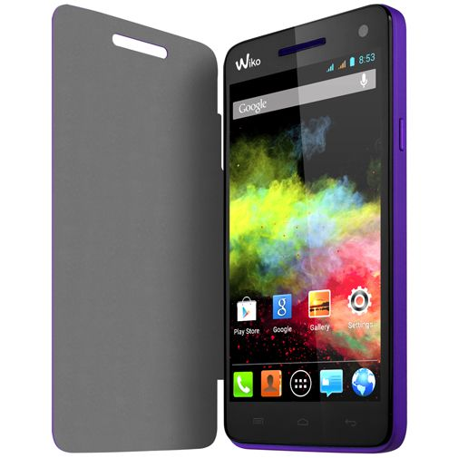 Wiko Booklet Case Purple Wiko Rainbow