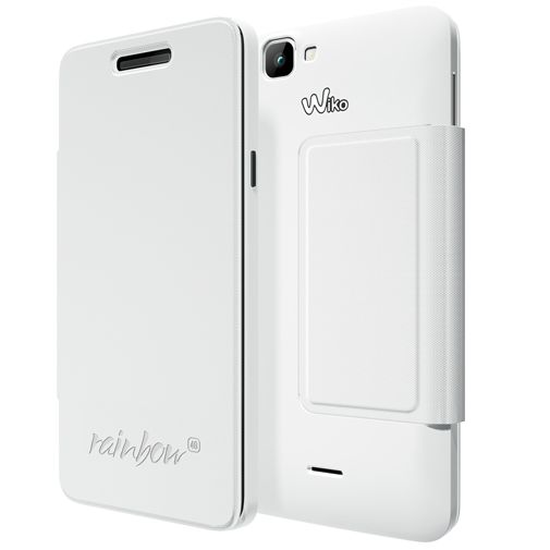 Wiko Booklet Case White Wiko Rainbow 4G