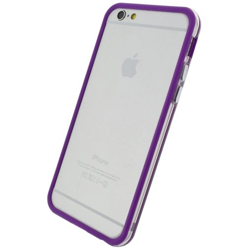 Xccess Bumper Case Transparent/Purple Apple iPhone 6/6S