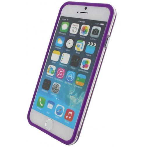 Xccess Bumper Case Transparent/Purple Apple iPhone 6/6S