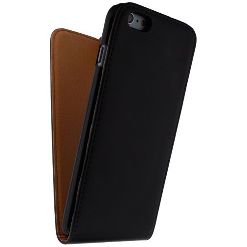 Xccess Leather Flip Case Black Apple iPhone 6 Plus/6S Plus