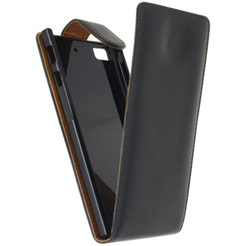 Xccess Leather Flip Case Black BlackBerry Z3