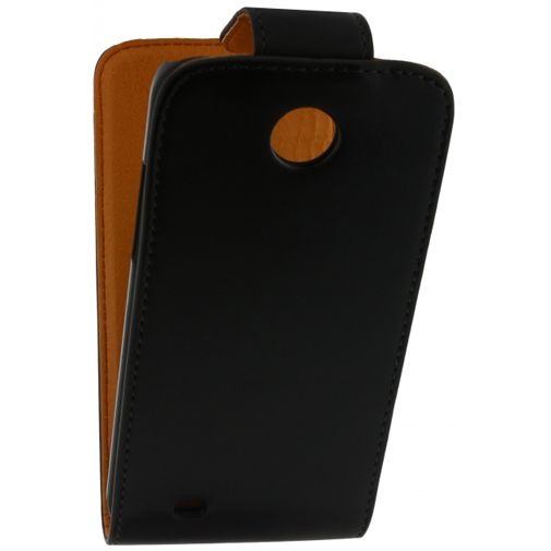 Productafbeelding van de Xccess Leather Flip Case Black HTC Desire 300