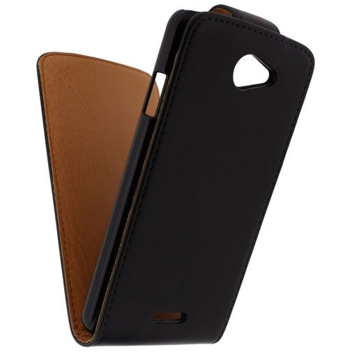 Xccess Leather Flip Case Black HTC Desire 516
