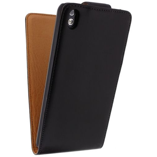 Xccess Leather Flip Case Black HTC Desire 816