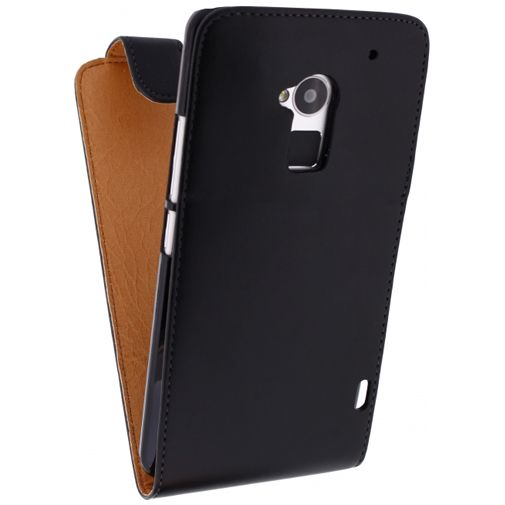 Productafbeelding van de Xccess Leather Flip Case Black HTC One Max