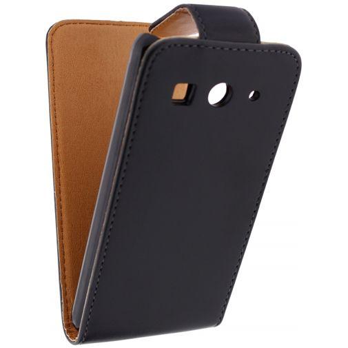 Productafbeelding van de Xccess Leather Flip Case Black Huawei Ascend G525