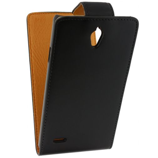 Xccess Leather Flip Case Black Huawei Ascend G700