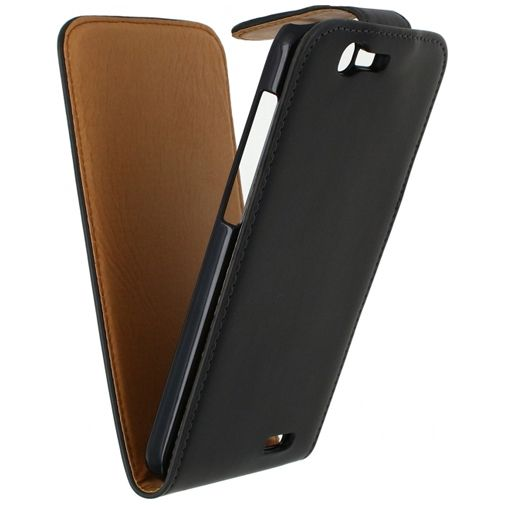 Xccess Leather Flip Case Black Huawei Ascend G7