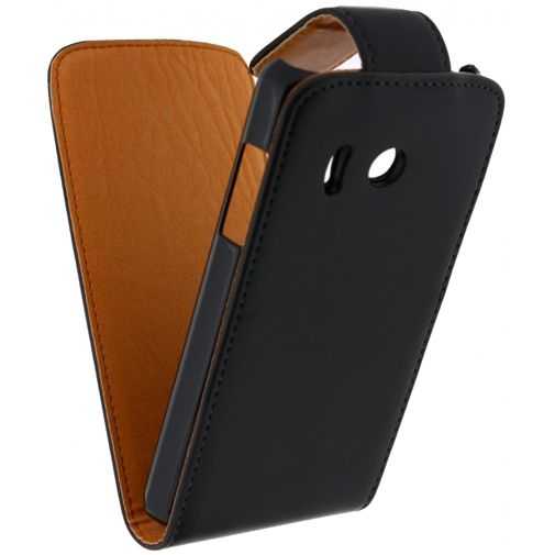 Xccess Leather Flip Case Black Huawei Ascend Y300