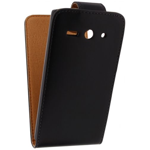 Xccess Leather Flip Case Black Huawei Ascend Y530