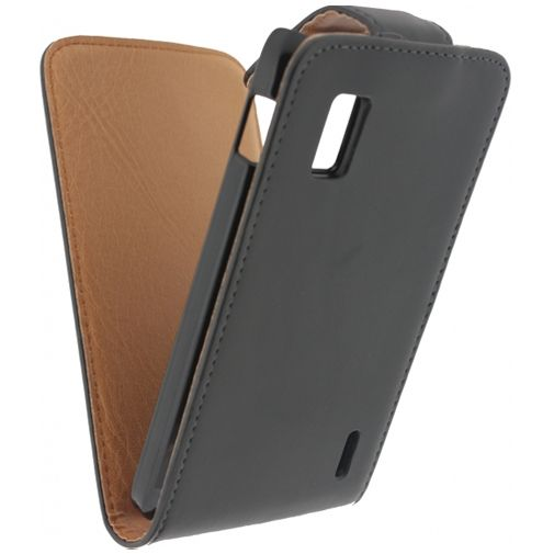 Xccess Leather Flip Case Black LG Nexus 4 E960